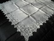 Linen Lace Tablecloth