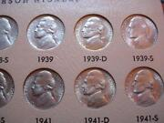 Jefferson Nickel Set 1938