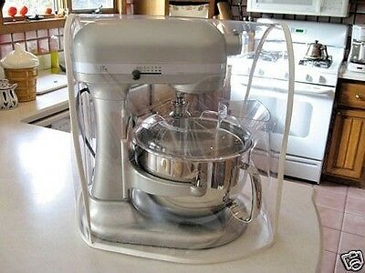CLEAR MIXER COVER fits KitchenAid Bowl-Lift - WHITE Trim – (5-6 Qt.)