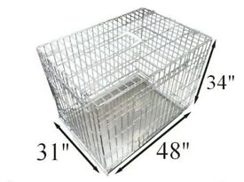 Ellie-Bo Dog Puppy Cage 48 Inch- Large - Perfect for Large breed Dogs (foldable) + Vet bed + Cover