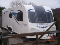 BAILEY PEGASUS GT65 BOLOGNA 2013 FIXED BED TWIN AXLE AWNING EXCELLENT CONDITION