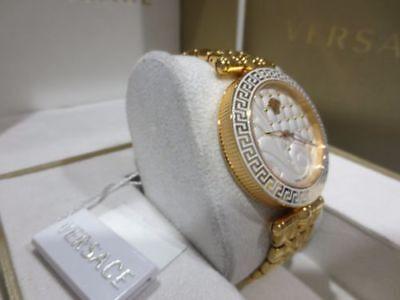 Versace Women's VK7240015 Vanitas  Gold IP Stainless Steel Quilted Effect Watch