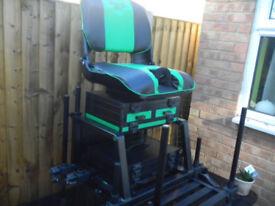 SENSAS JUMBO SEAT BOX WITH ROTATING POLE SEAT