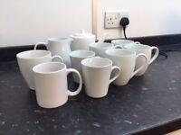 White mugs/teapot/Jug selction
