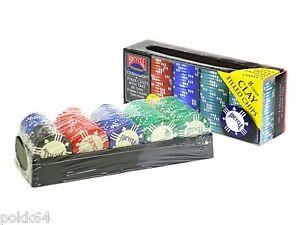 Rack de 100 jetons de poker BICYCLE 8 g en Clay Composite Tournament Player 0716
