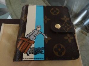 AUTHENTIC LOUIS VUITTON BLUE GROOM WALLET RARE
