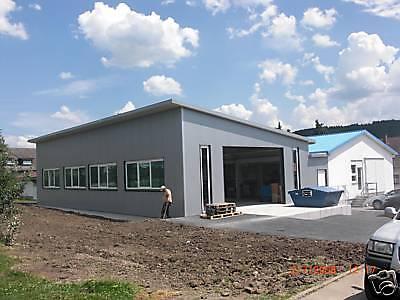 Neue Stahlhalle 20m x 20m x 4m, isoliert