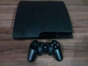 320GB PLAYSTATION 3 SLIM INCLUDE CONTROLLER + 10 DOWNLOADED GAME