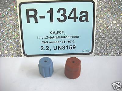 R134a, Automotive A/C Service Port Cap SET,  HIGH & LOW SIDE, RED & BLUE
