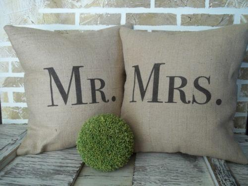 Mr And Mrs Pillows Ebay