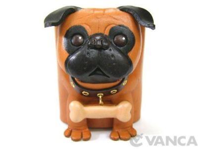 Pug Handmade Leather Dog Eyeglasses Holder/Stand *VANCA* Made in Japan #26211