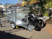 NEW HEAVY DUTY GAL TIPPER TRAILER INCLUDES CAGE .. ALL SIZES Southport Gold Coast City Preview