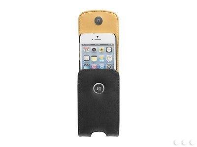 Cellet Black Vertical Noble Case For iPhone 5 On Removable Spring Belt Clip