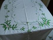 Embroidered Christmas Tablecloth