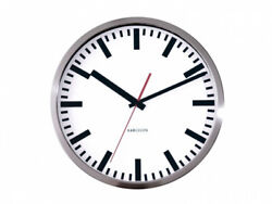 Karlsson Wall Clock Station Steel Polished. Shipping Included