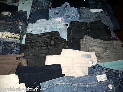 Wholesale Joblot Ladies Jeans Denim Cord Etc Mixed Brands Sizes Lengths & Styles