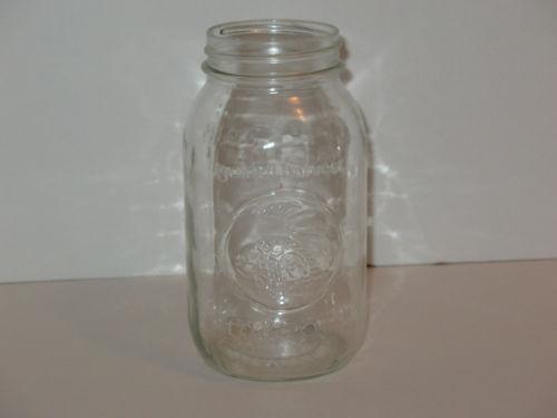 vintage large mason jar ebay. Black Bedroom Furniture Sets. Home Design Ideas