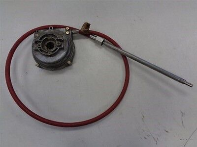 MORSE CONTROLS ROTARY STEERING CABLE WITH GEAR BOX 6' MARINE BOAT Morse Steering Controls