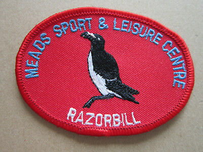 Mead Sport & Leisure Centre Razorbill Sport Woven Cloth Patch Badge