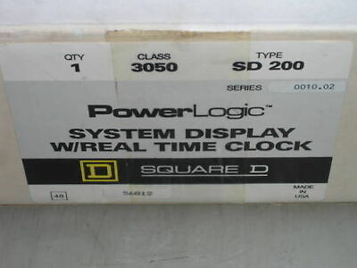Square D Power Logic System Display 3050-sd200