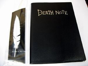 Death Note Notebook Cosplay Film Replica Prop Gift Quill Feather Pen Anime NEW