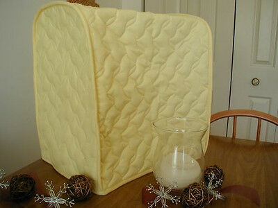 Yellow Appliance Cover fits Kitchen Aid Mixers, solid, quilted fabric