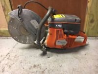 "HUSQVARNA K760 PETROL DISC CUTTER 12"" .DIAMOND BLADE FITTED"