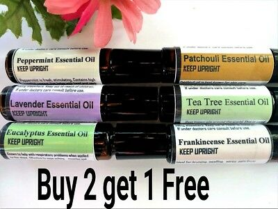 Buy 2 get 1 FREE Essential Oil Roller Ball Lavender Frankincense Patchouli  (Lavender Roller Ball)