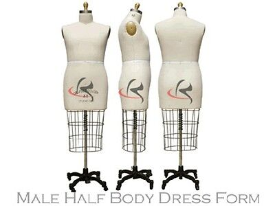Professional Pro Working Dress Form Mannequin Male Half Size 40 Whip