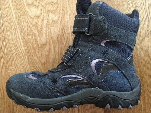 GEOX Stiefel Boots Klett Geox Tex 32 Leder Winter Schuhe wie neu