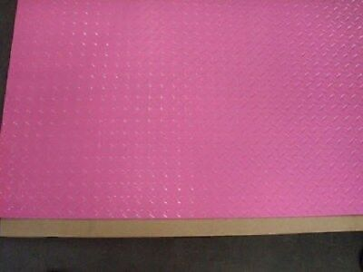 Aluminum Diamond Plate Powder Coated .045 X24x48 Pink