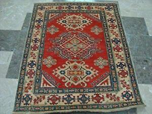 Super Kazak Caucasion Geometric Mahal Traditional Veg dyed Hand Knotted Rug Carpet (4.8 x 3.9)'