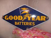 Vintage Porcelain Sign Good Year