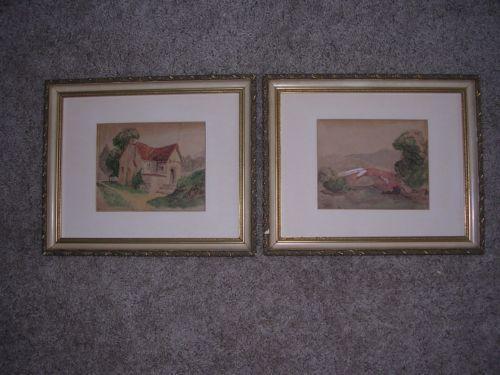 Antique Watercolor Paintings Ebay