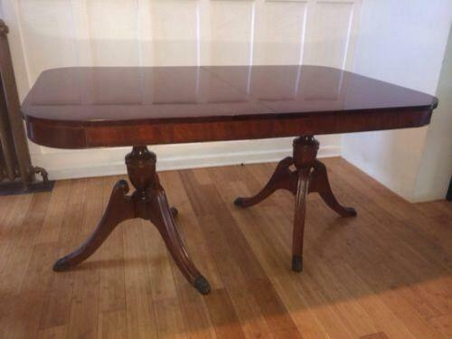 Set Id Duncan Phyfe Dining Table Ebay