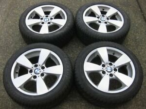 "set BMW E60 17"" dunlop run flat winter package tons of tread"