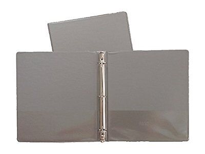 Gray Vinyl Standard 3-ring Binders 1-inch For 8.5 X 11 Sheets4 Pack