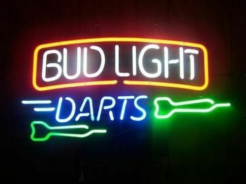 "New Bud Light Darts Budweiser Neon Light Sign 17""x14"" Beer C"