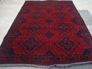 Awesome Afghan Khal Muhamadi Designed Rectangle Area Rug Hand Knotted Wool Carpet (6.1 x 4.2)'