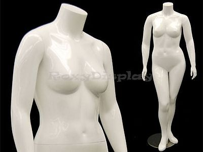 Female Mature Plus Size Headless Mannequin With High Heel Feet Md-nancybw1s