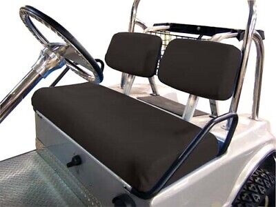 Club Car DS (1979 to 2000.5) Black 3-Piece Vinyl Seat Cover Set for Golf Cart 84 85 1986 Car Cover
