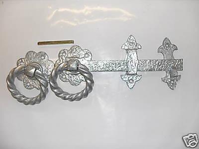 Twisted heavy ring church gate latch 10