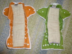ISO: Cloth diaper prefolds/snappis and covers