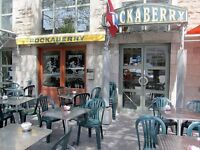 For Rent Former Rockaberrys located on St-Denis w Liquor Permit