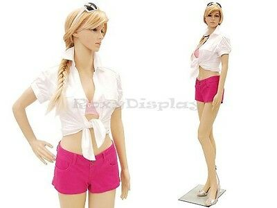 Plastic Durable Manequin Female Mannequin Display Dress Form G1free Wig