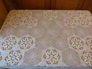 Tischdecke Oval Weiß