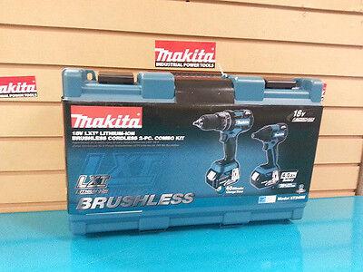 Makita XT248M 18V LXT Brushless Cordless Li-Ion Combo Kit Drill Impact NEW
