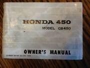 Honda CB450 Manual