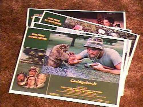 CADDYSHACK LOBBY CARD SET 1980 BILL MURRAY GOLF