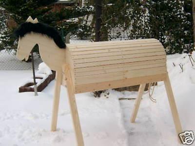 NEU Holzpferd Voltigierpferd Holzpony Pferd Pony N -NEU- 114 cm 1